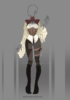 (CLOSED) Adoptable Outfit Auction 28 by JawitReen on DeviantArt - (CLOSED) Adoptable Outfit Auction 16 by Risoluce.devianta… on - Source by beckyrlow outfit Dress Drawing, Drawing Clothes, Fashion Design Drawings, Fashion Sketches, Anime Outfits, Cool Outfits, Anime Pokemon, Clothing Sketches, Hero Costumes