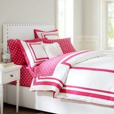 Suite Organic Duvet Cover & Sham | PBteen pink magenta