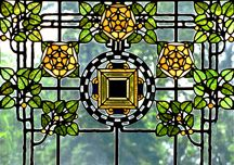 This is one of the windows in Glensheen Mansion in Duluth, Minnesota. What beautiful glass art!