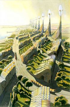 The vegetal city, Luc Schuiten