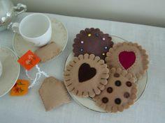 Té y galletas de fieltro por Creativetouches1 en Etsy