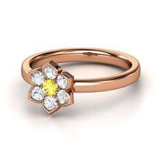 Modern Flower Ring