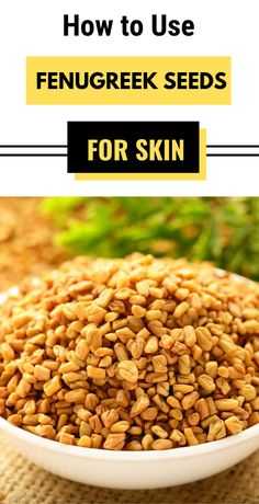 Fenugreek seed can be used with your household ingredients to cure many skin problems. wondering what is fenugreek seeds it also called as methi seed. A homemade solution for skin Anti Aging Skin Care, Natural Skin Care, Facial Tips, Natural Home Remedies, Skin Care Tips, Healthy Skin, Seeds, Beauty Tips, Beauty Hacks