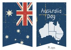 Australia Day printable bunting, cupcake toppers, etc. These are adorable and free :) @Rebekah Nicole @Tabitha Colwell @elizabeth @Liz Nelson @Li Qiu @Jenni Neibling