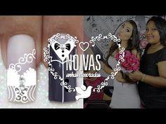 Unhas Decoradas Passo a Passo com Flores para Natal (nail art tutorial) | Cola na Villar - YouTube Crown, Nails, Youtube, Jewelry, Nail Jewels, Gel Nail, Bridal Nail Design, Bride Nails, Nail Bling