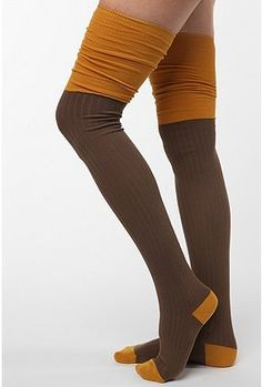 colorblock over the knee socks So sad they've sold out!