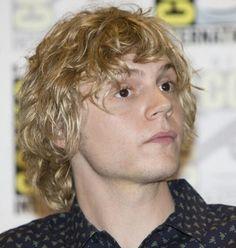 Wavy Blonde is still the best look on Evan Peters.