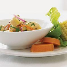 Peruvian Ceviche--includes sweet potatoes and habanero chiles:)