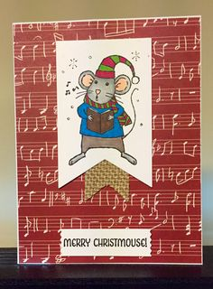 Stampin Up Merry Mice, Banners Framelits, Washi Label punch