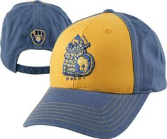 d7c1b68d43100 Milwaukee Brewers Pastime Retro Logo Washed Twill Adjustable Strapback Hat  by American Needle.  19.99.