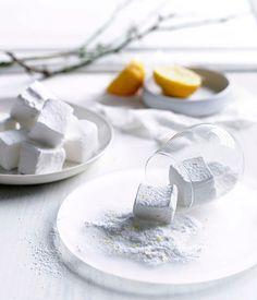 Lemon Sherbet Marshmallows via Gourmet Traveller #lemon #recipe