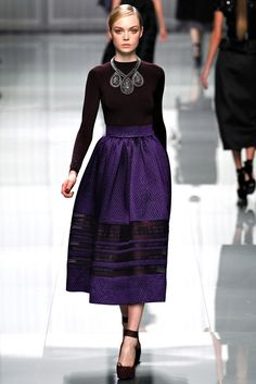 Christian Dior Fall 2012 Ready to Wear - someone had better knock this skirt off really quick so I can buy it!