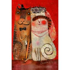 The Wedding gift - Postcards, Cat story