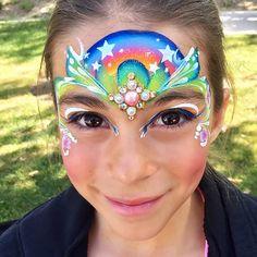 Trendy makeup face charts ideas make up 43 Ideas Unicorn Kids, Unicorn Face, Irezumi Tattoos, Face Painting Designs, Body Painting, Mask Painting, Painting Canvas, Girl Artist, Art Girl