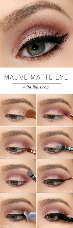 Sexy Eye Makeup Tutorials - Mauve Matte Eye Tutorial - Easy Guides on How To Do ., Sexy Eye Makeup Tutorials - Mauve Matte Eye Tutorial - Easy Guides on How To Do Smokey Looks and Look like one of the Linda Hallberg Bombshells - Sexy. Sexy Eye Makeup, Prom Makeup, Skin Makeup, Wedding Makeup, Beauty Makeup, Makeup Brushes, Makeup Eyeshadow, Matte Makeup, Matte Eyeshadow