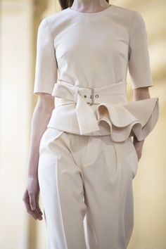 Backstage at the Bouchra Jarrar Couture Fall 2014 runway show.