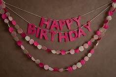 birthday garland
