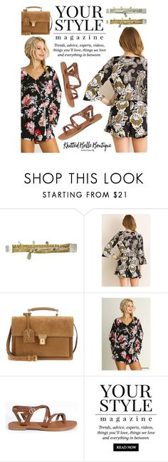 """Romper Style!"" by knittedbelleboutique ❤ liked on Polyvore featuring Good Works, Yves Saint Laurent, Umgee and Pussycat"