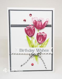 Stampin' Up! Tranquil Tulips handmade card - 2017-2018 Host Set