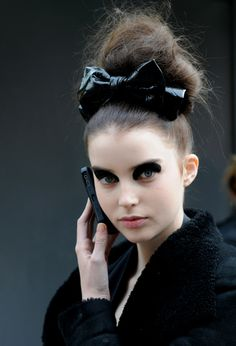 fierce make up (How To Make A Top Knot)