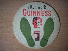 Vintage #Guinness Beer Mat - After Work