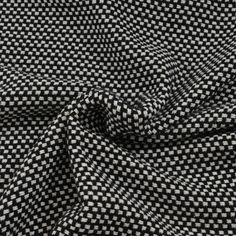 Stofje Tweed grof zwart wit