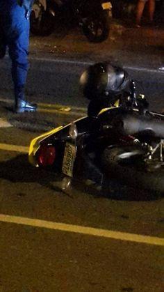 Motorizado murió tras derrapar y caer en alcantarilla