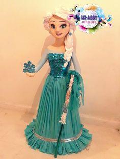 Piñata by Liz-Abby Piñatas Frozen Pinata, Frozen Party, Frozen Birthday, Girl Birthday, 6th Birthday Parties, Elsa Frozen, Disney Style, Party Themes, Fashion Dresses