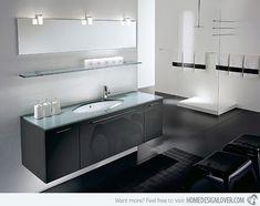 Para los amantes de la elegante combinación de blanco y negro les compartimos estos diseño de baños espectaculares con esta aplicación