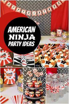 Sharon it with you: American Ninja Warrior Birthday Banner and cupcake picks!