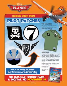 I have the biggest smile on my face right now. I was hoping to find some printable paper airplanes in the theme of Disney's Planes, and I did. Disney Theme, Disney Fun, Plane And Pilot, Disney Planes, Plane Design, Disney Coloring Pages, Disney Crafts, Printable Paper, Design Your Own