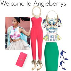 Stepping out chic! by angieberrys on Polyvore featuring Angieberrys, Mary Katrantzou, H&M, Roland Mouret, Oscar de la Renta and Yves Saint Laurent