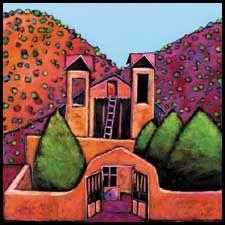 Santuario de chimayo church painting
