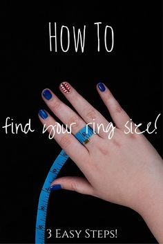 Learn how to find your own ring size in the comfort of your own home in 3 easy steps!