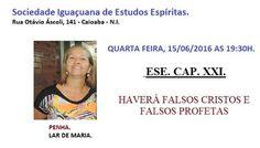 Sociedade Iguaçuana de Estudos Espíritas Convida para a sua Palestra Pública - Nova Iguaçu – RJ - http://www.agendaespiritabrasil.com.br/2016/06/15/sociedade-iguacuana-de-estudos-espiritas-convida-para-sua-palestra-publica-nova-iguacu-rj-8/
