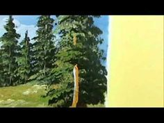 Part 8 Landscape Acrylic - How To Paint Tall Trees - YouTube