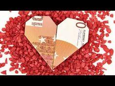 Herz aus Geldschein falten, einfach HERZEN aus GELD basteln, Anleitung - YouTube