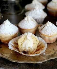 Vanilla Cream Filled Muffins | Cookies and Cups