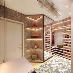 Ah, eu moraria nesse closet autoria de Isa Junqueira Arquitetura | @decoreinteriores