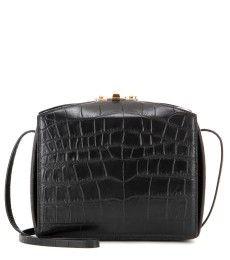 Alexander McQueen - Embossed leather shoulder bag - mytheresa.com