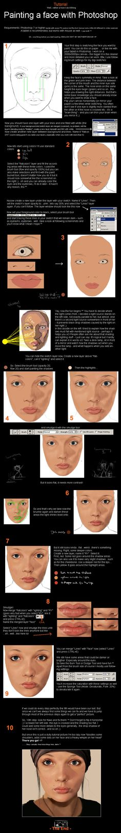 Painting a face #tutorial