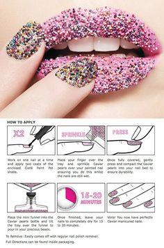 caviar manicure - appyl by reva