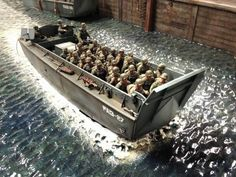D-Day Road to Destiny By Modeler Sario Bassanelli Ww2 Pictures, Star Wars Pictures, Scale Model Ships, Scale Models, Model Warships, D Day Normandy, D Day Landings, Military Action Figures, Landing Craft