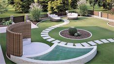 grammiki - Σχεδιασμός και διακόσμηση κήπου.   Εξειδικευμένος Σχεδιασμός κήπου. Αρχιτεκτονική κήπων για κατοικίες και ξενοδοχεία. Garden Design, Patio, Outdoor Decor, Flowers, Home Decor, Houses, Gardens, Decoration Home, Terrace