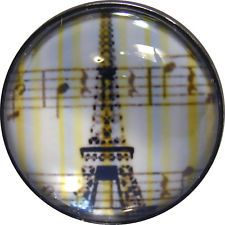 """I/"""" Crystal Dome Button Eiffel Tower /& Hot Air Balloons ET 04 FREE US SHIPPING"""