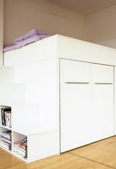But lit armoire mezzanine bedroom pinterest placards armoires et lieux - Lit mezzanine placard ...