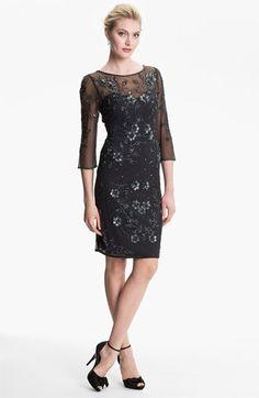 Patra Embellished Illusion Yoke Mesh Dress available at #Nordstrom