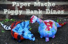 Paper Mache Piggy Banks from Red Ted Art's Blog