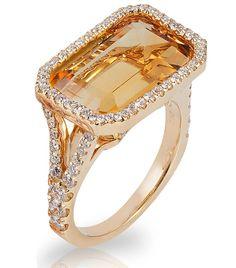 Deleuse Fine Jewelry & Couture - Goshwara Designer Citrine Ring