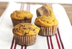 Pumpkin Muffins with Chocolate Chips via DeliciouslyOrganic.net